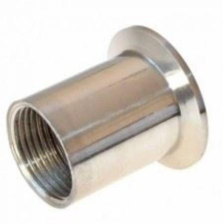 """Переходник с клампа 2"""" (k50,5) на резьбу (внутреннюю) 1/2 дюйма DN15 (18,6 мм)"""