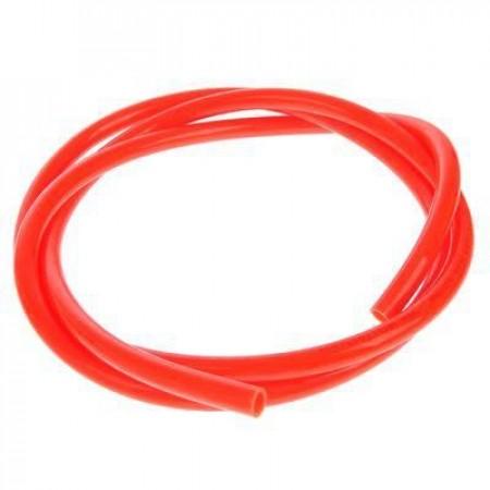 Жесткая ПВХ трубка под быстросъем, красная, 12 мм.