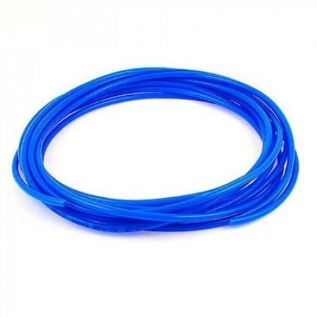 Жесткая ПВХ трубка под быстросъем, синяя, 10 мм.