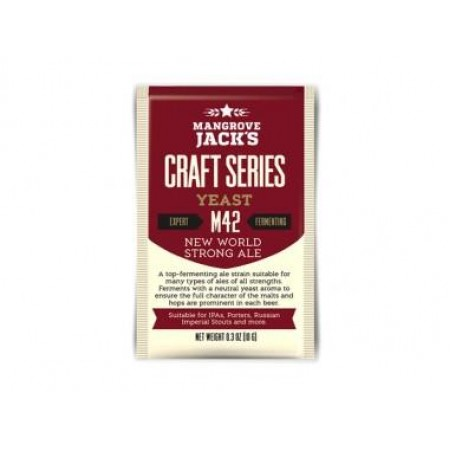 Дрожжи пивные Mangrove Jacks New World Strong Ale M42, 10 гр.