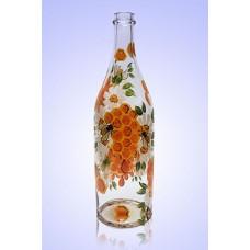 Бутыль Литр 1л, ручная роспись Пчёлки