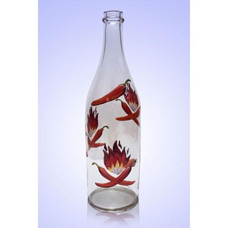 Бутыль Литр 1л, ручная роспись Перец